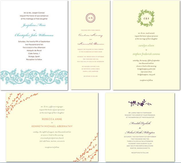 Thermography Wedding Invitation Collection from Wedding Paper Divas