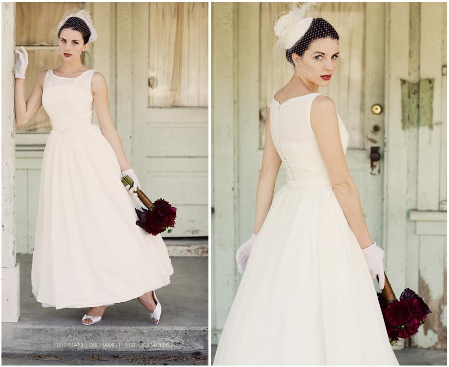 White wedding dress white birdcage veil crimson lips and for Classic white wedding dress