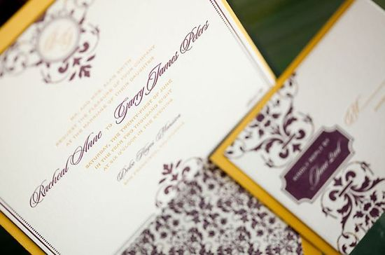 Formal wedding invitation ideas