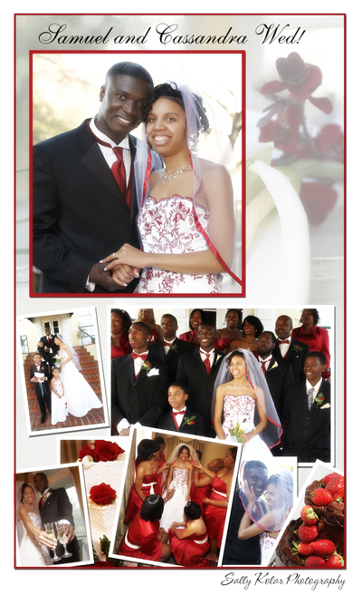 Wedding in red and white