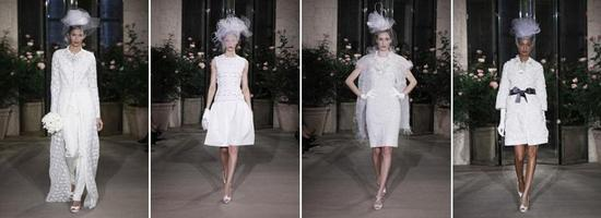 Oscar de la Renta- Spring 2010 bridal collection- dresses go short!