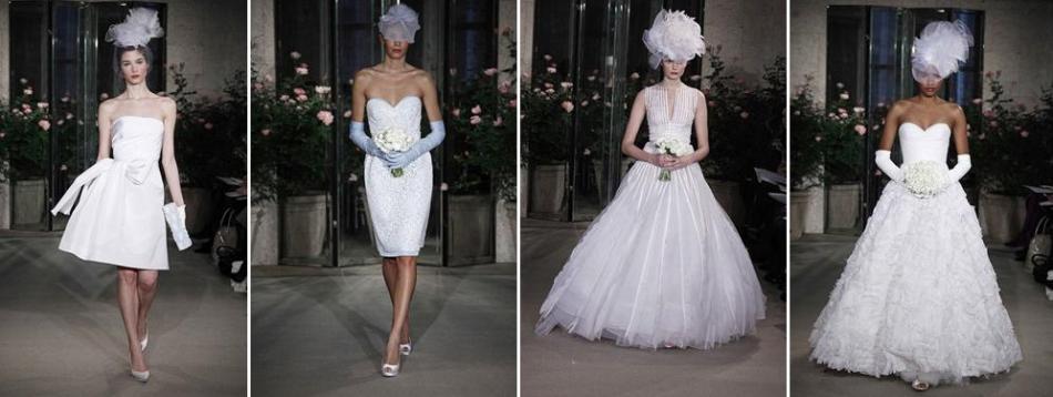 Oscar de la Renta- Spring 2010 bridal collection- short ...