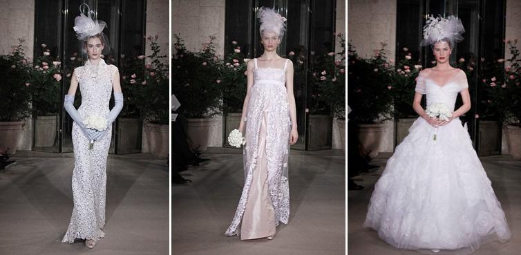 Oscar de la Renta- Spring 2010 bridal collection- mid ...