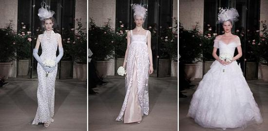 Oscar de la Renta- Spring 2010 bridal collection- mid-1940s film noir feel