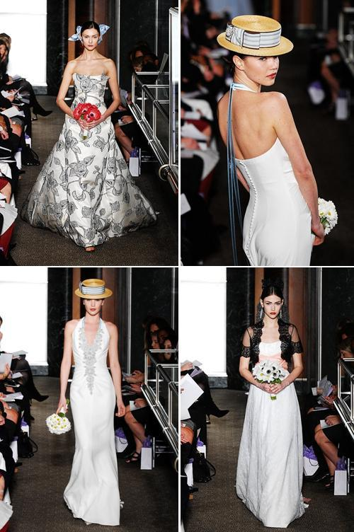 Carolina Herrera- Spring 2010 bridal collection- inspired by famous artists