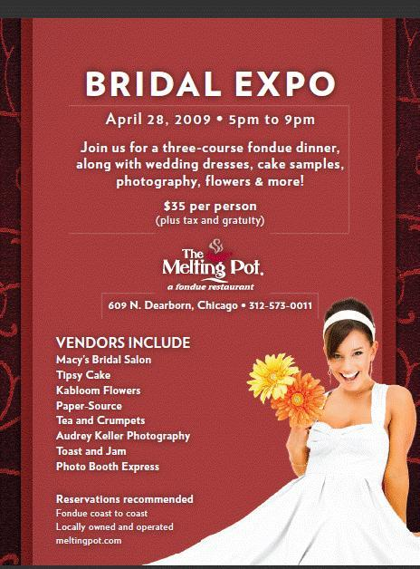 photo of Hey Chicago Brides!  You don't want to miss this bridal show!