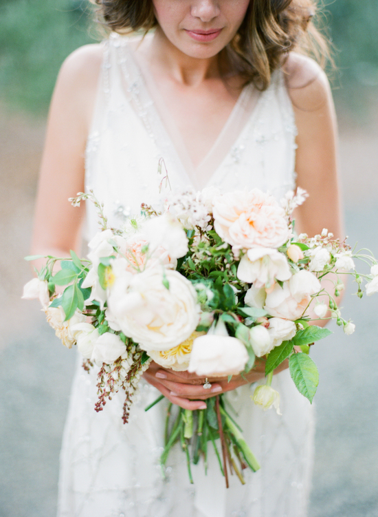 Bohemian Style Wedding Flowers for Spring Wedding