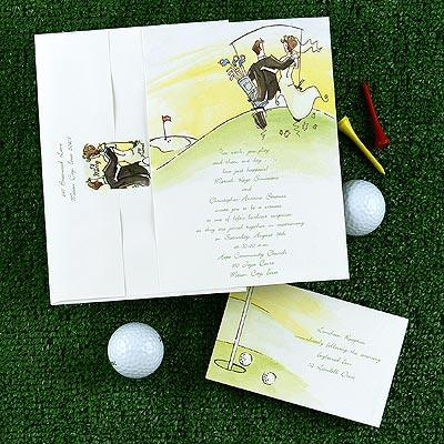 Golf Themed Wedding Invitations And Response Cards