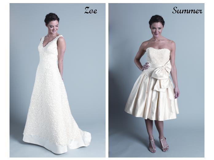 Modern-trouseau-wedding-dresses-full-length-white-lace-short-ivory-with-bow-at-waist.full