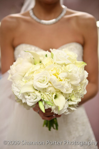 Beautiful bride, beautiful bouquet