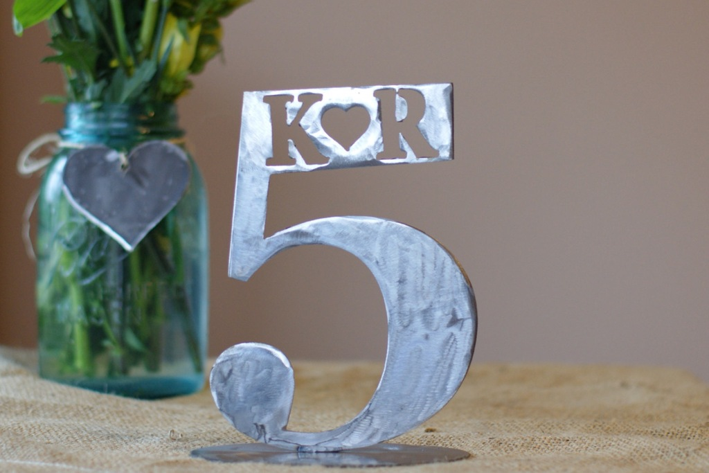 Unique-melted-metal-wedding-table-number.full
