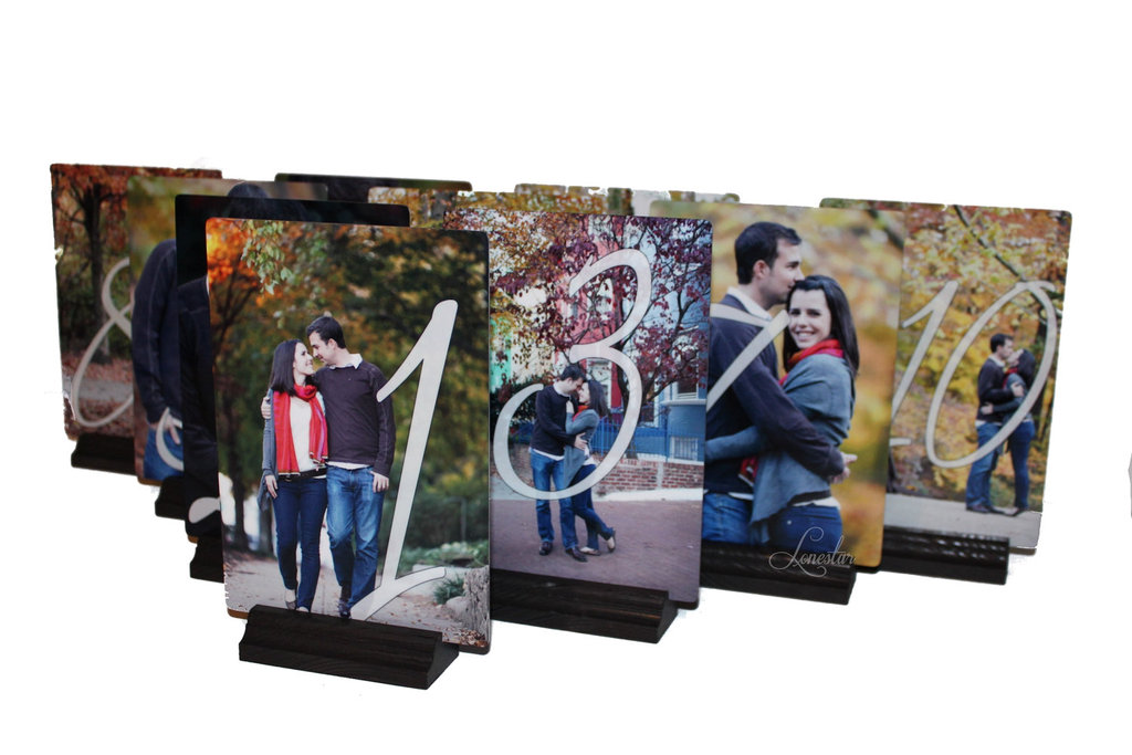 Customized-wedding-table-numbers-with-couples-photos.full