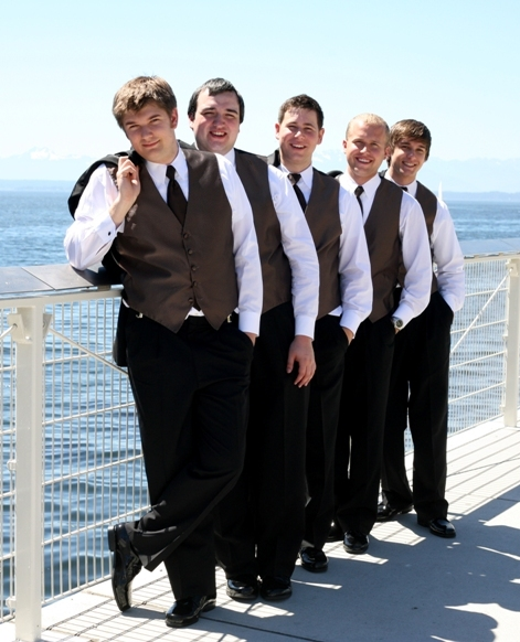 A line of handsome groomsmen