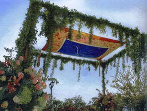 photo of Jewish Wedding Idea: Design Your Own Chuppah