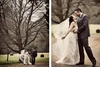 Bride-groom-hold-hands-walk-together-outside-green-grass-gravel-path.square