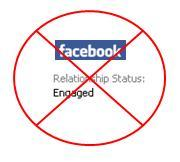"Changing your facebook status to ""Engaged"" too soon is a no no"