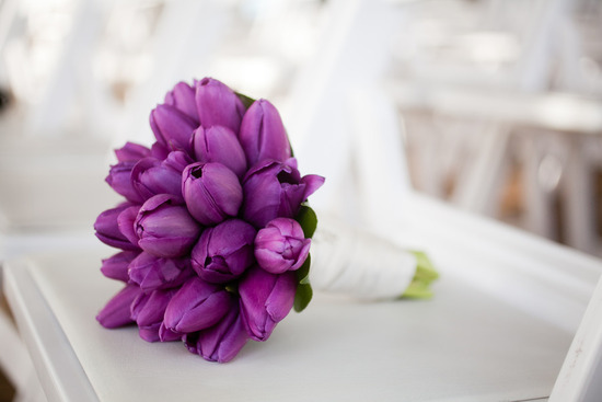 All purple wedding bouquet