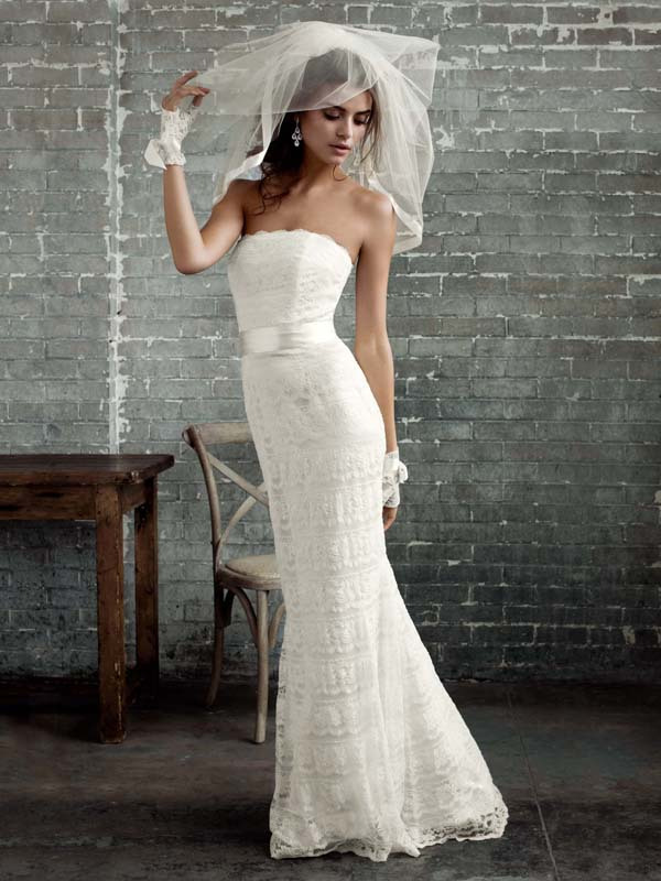 photo of Lace mermaid Galina wedding dress - style PK3226
