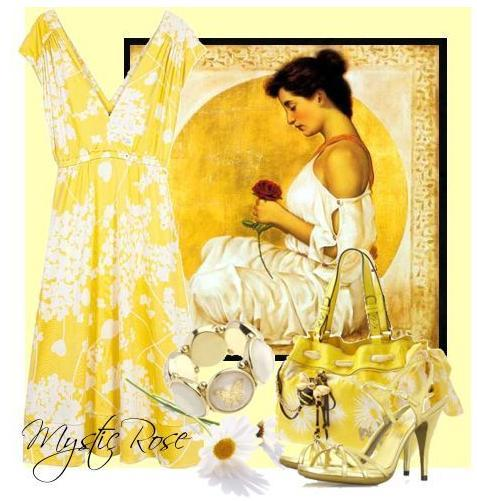 Yellow And White Are Perfect Colors For Summer Morning Wedding