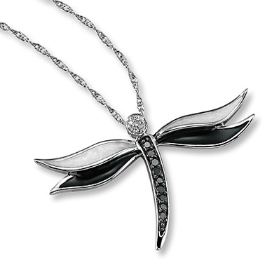 photo of Kay Jewelers Black Diamond Necklace 1/6 ct tw Round-cut Sterling Silver- More