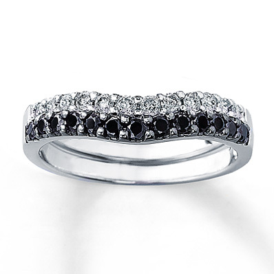 photo of Kay Jewelers Diamond Enhancer Ring 1/2 ct tw Round-cut  14K White Gold- Women's Wedding
