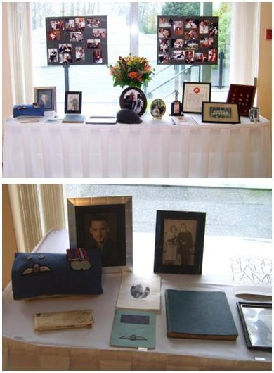 In-loving-memory-table-with-pictures-scrapbooks-advice-from-loved-ones.full