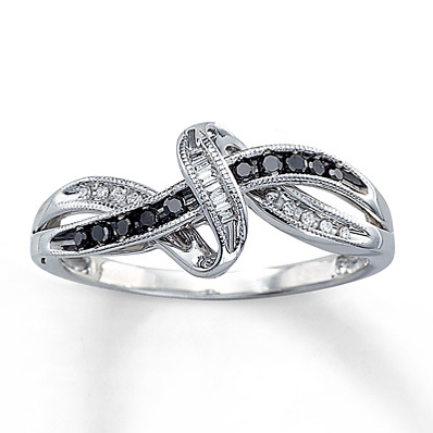 photo of Kay Jewelers 1/8 ct tw Diamond Ring Baguette-Cut  Sterling Silver- Ladies' Diamond Fashion
