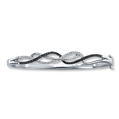 photo of Kay Jewelers Black Diamond Bracelet 1/3 ct tw Round-cut Sterling Silver- Bracelets
