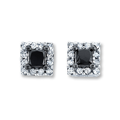 Kay Jewelers Diamond Earrings  1/4 ct tw Princess-Cut  10K White Gold- More