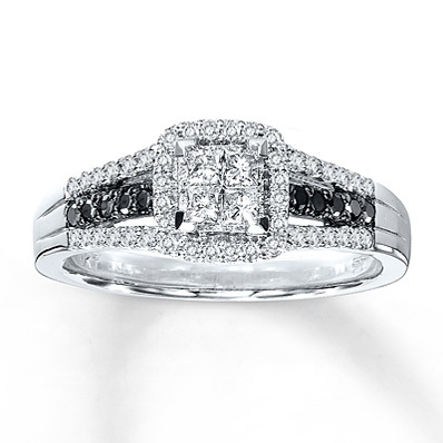 Kay Jewelers Diamond Engagement Ring 1/2 ct tw Diamonds 10K White Gold- Bridal
