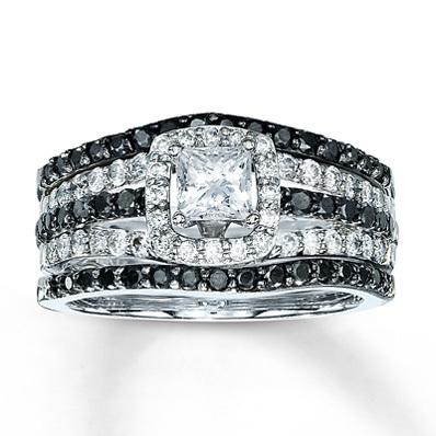 photo of Kay Jewelers Diamond Bridal Set 1 1/4 ct tw Princess-cut 14K White Gold- Bridal