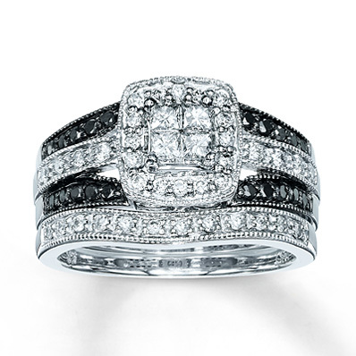 Kay Jewelers Diamond Bridal Set 5/8 ct tw Diamonds 14K White Gold- Bridal
