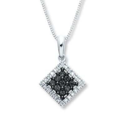 photo of Kay Jewelers Black Diamond Necklace 1/4 ct tw Diamonds 14K White Gold- More