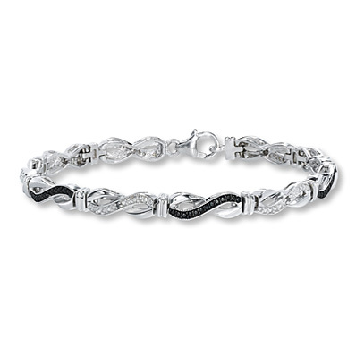 Kay Jewelers Black Diamond Bracelet 1/20 ct tw Diamonds Sterling Silver- Diamond