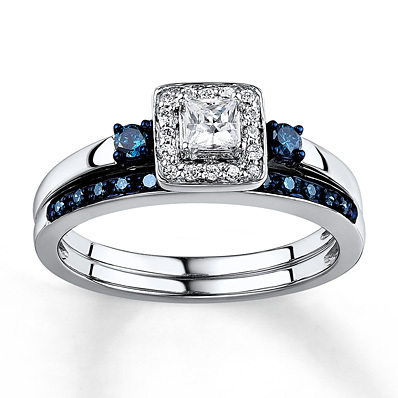 kay jewelers diamond bridal set 38 carat tw 10k white gold engagement rings - Kay Jewelers Wedding Rings Sets