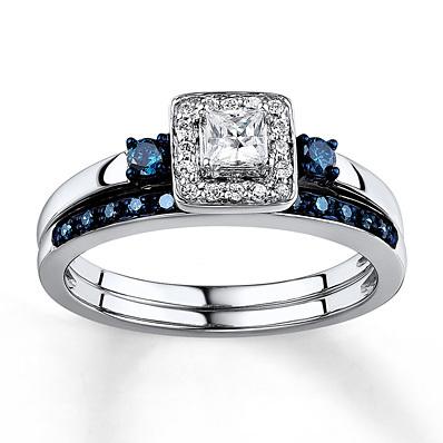 photo of Kay Jewelers Diamond Bridal Set 3/8 carat tw 10K White Gold- Engagement Rings