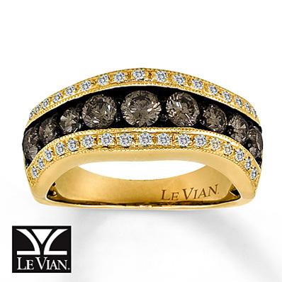 photo of Kay Jewelers Chocolate Diamonds  Ring  1 1/3 ct tw Round-Cut 14K Honey Gold - Fashion Rings