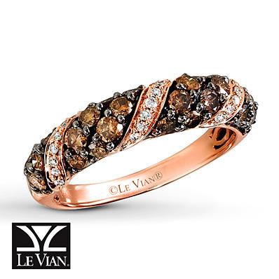 photo of Kay Jewelers Chocolate Diamonds  Ring  1 ct tw 14K Strawberry Gold - Ladies' Diamond Fashion