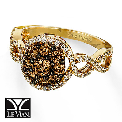Kay Jewelers Chocolate Diamond  Ring 1 carat tw 14K Honey Gold - Fashion Rings