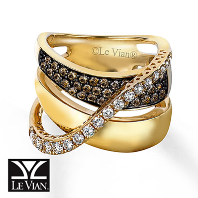 Kay Jewelers Chocolate Diamonds  Ring 1 1/5 carats t.w. 14K Honey Gold - Fashion Rings