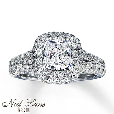 photo of Kay Jewelers Diamond Engagement Ring 2 7/8 ct tw Cushion-Cut 14K White Gold- Bridal