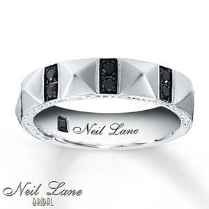 photo of Kay Jewelers Men's Diamond Band 3/8 ct tw Round-Cut 14K White Gold- Men's Bands
