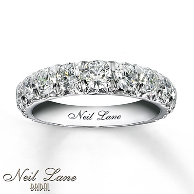 photo of Kay Jewelers Diamond Anniversary Band 2 ct tw Round-Cut 14K White Gold- Women's Anniversary