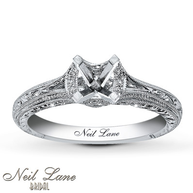 photo of Kay Jewelers Diamond Ring Setting 1/8 ct tw Round-cut 14K White Gold- Kay Design-A-Ring™