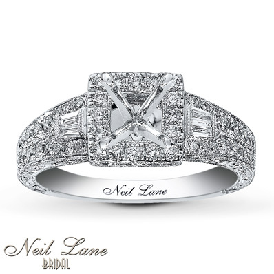 photo of Kay Jewelers Diamond Ring Setting 5/8 ct tw Round-cut 14K White Gold- Kay Design-A-Ring™