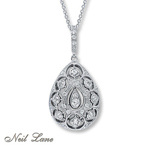 photo of Kay Jewelers Diamond Necklace 1 ct tw Round-cut 14K White Gold- More