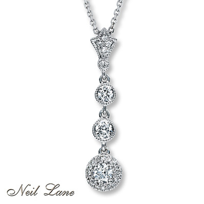 photo of Kay Jewelers Diamond Necklace 1/2 ct tw Round-cut 14K White Gold- More