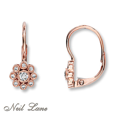 Kay Jewelers Diamond Earrings 1/4 ct tw Round-Cut 14K Rose Gold- More