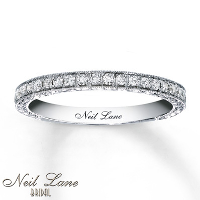 Kay Jewelers Diamond Wedding Band 1/3 ct tw Round-cut 14K White Gold- Women's Wedding