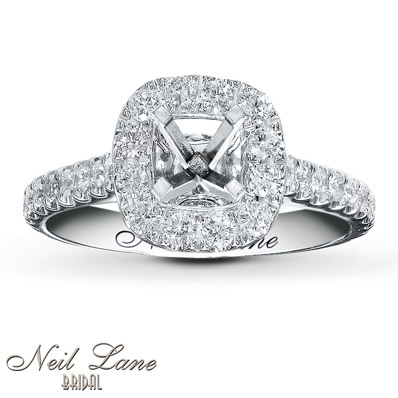 photo of Kay Jewelers Diamond Ring Setting 3/4 ct tw Round-cut 14K White Gold- Kay Design-A-Ring™